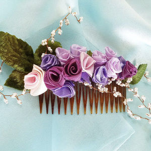 Accessories - Lavender-Pink Silk Rose-Pearls Hand Made Facinator